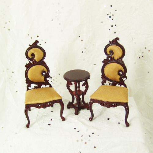 "H12010 MH - 1"" scale Mahogany Seating Sets"