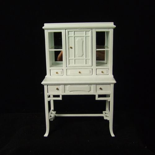 "H12013 WT - 1"" scale White Display Cabinet"