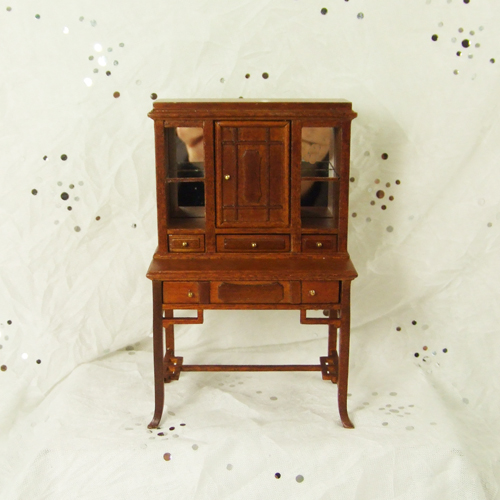 "H12013 WN - 1"" scale Walnut Display Cabinet"