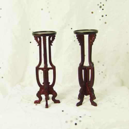 "H12017 MH - 1"" scale Mahogany Plant Stand Set"