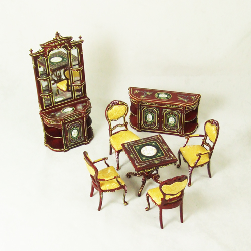 8018 Hansson Mahogany Full Dining Room Set 7 pieces