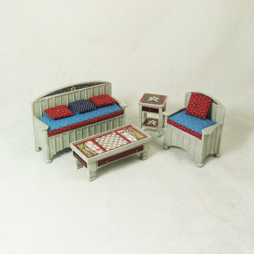 "8082, Living Room set #2 in 1"" scale - 4 pieces"