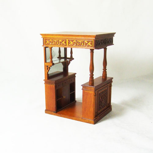 Dollhouse miniature 1:12 - Beautiful Old World style home bar
