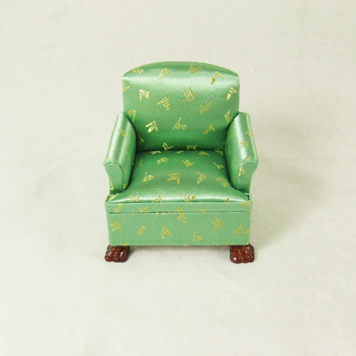 "CA079-01 Green Single Sofa in 1"" scale"