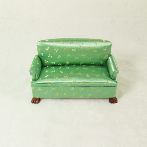 "CA079-02 Green Double or Love Sofa in 1"" scale"
