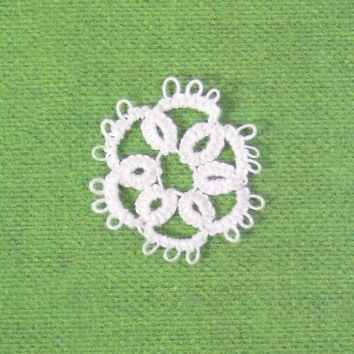Handmade - OOAK Miniature Tatting lace - Doily #1