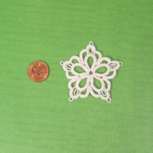 Handmade - OOAK Miniature Tatting lace - Doily #10