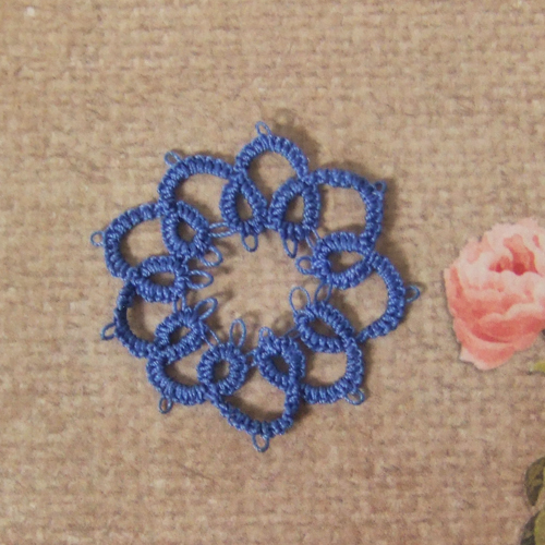 Handmade - OOAK Miniature Tatting lace - Doily #3
