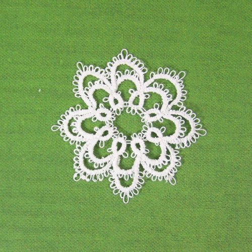 Handmade - OOAK Miniature Tatting lace - Doily #4