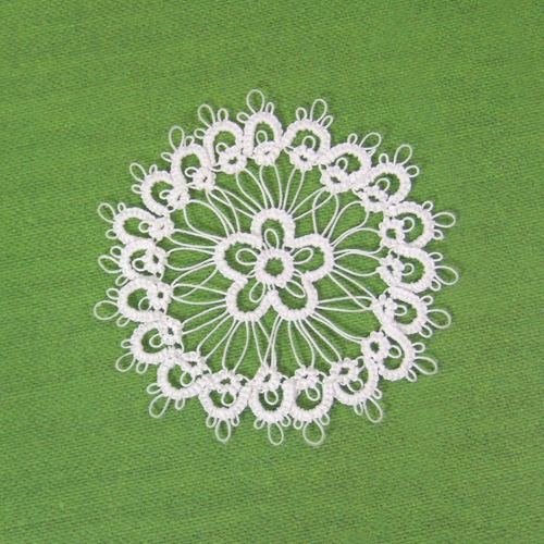 Handmade - OOAK Miniature Tatting lace - Doily #5