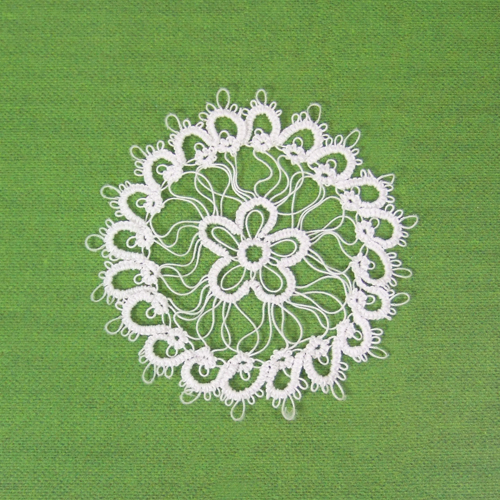 Handmade - OOAK Miniature Tatting lace - Doily #6