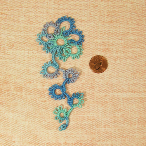 Handmade - OOAK Miniature Tatting lace - Doily #8