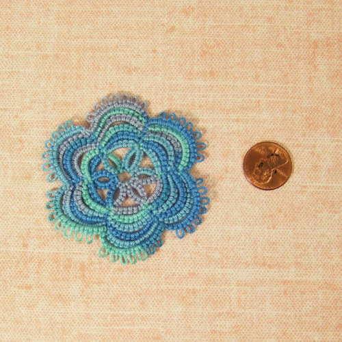 Handmade - OOAK Miniature Tatting lace - Doily #9