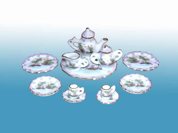 Collectible Pink Porcelain Full Tea Party Set - EP 05027