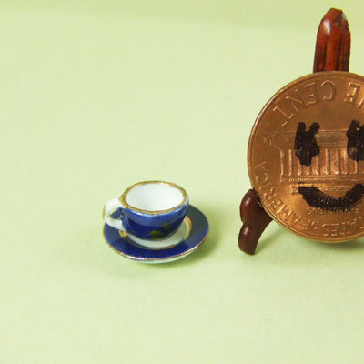 Collectible Blue TEA CUP and SAUCER - EP 05012
