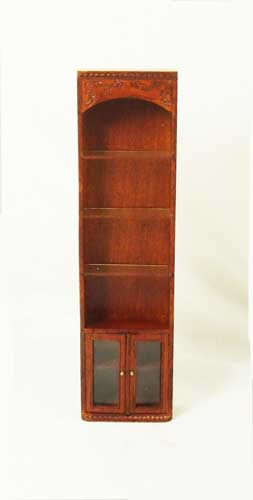 R8021 - Walnut Tall Collections Shelf Cabinet w