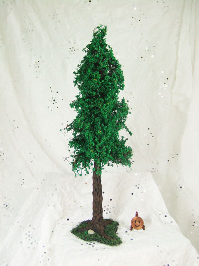 "1"" scale Tree made from cold porcelain and mixed media - 9"" Tall"