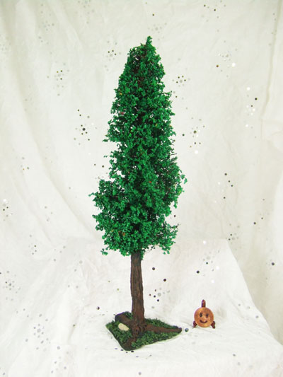 "1"" scale Tree made from cold porcelain and mixed media - 8"" Tall"